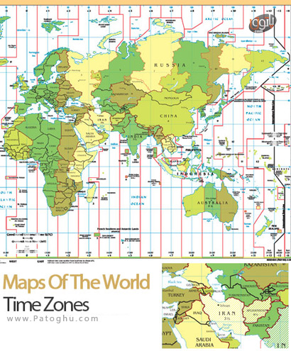 Maps-Of-The-World-Time-Zone