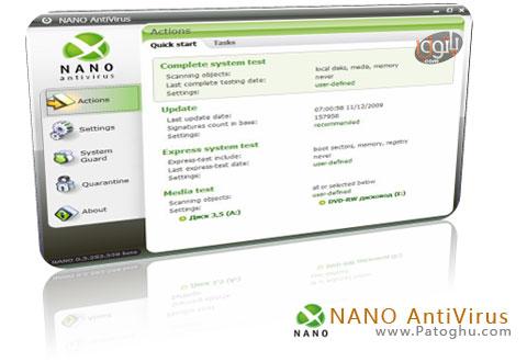 نسخه جدید آنتی ویروس قدرتمند نانو NANO AntiVirus 0.6.0.14 Beta Multilang