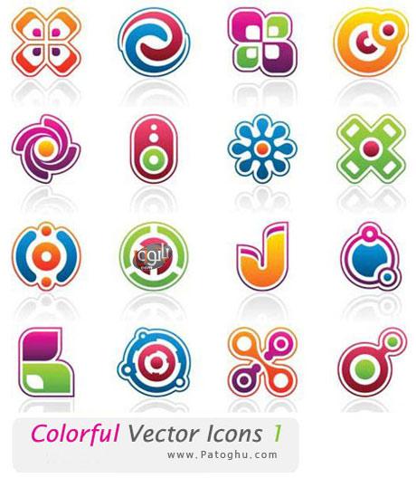 مجموعه آیکون های رنگارنگ شماره ۱ – ColorFul Vector Icon 1