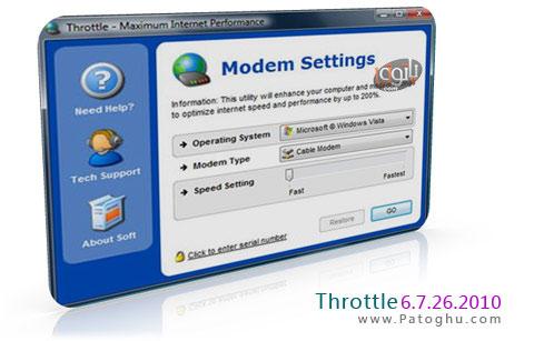 افزایش سرعت  بارگذاری صفحات وب در مرورگر شما با Throttle 6.3.22.2010
