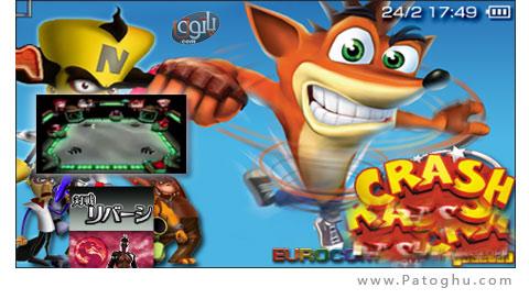 دانلود بازی PSP Crash Bash - بازی پی اس پی کراش پیاده - کراش باش