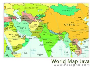 دانلود نقشه جهان برای موبایل به صورت جاوا - Mobile World Map
