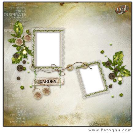 دانلود فریم و قاب دور تصویر ویژه عکس عروس و داماد