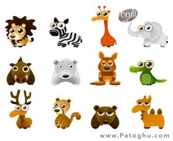 وکتورهای فانتزی و کارتونی از حیوانات - فرمت JPG و EPS فتوشاپ