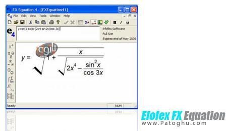 تایپ آسان مسائل ریاضی با Efofex FX Equation v4.004
