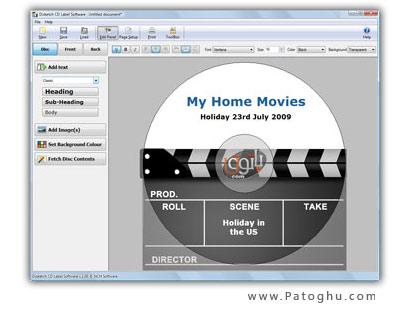 نرم افزار طراحی لیبل و برچسب کاور دی وی دی / سی دی - NCH Disketch 2.10