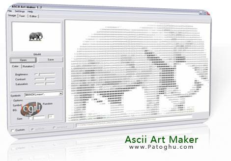تبدیل عکس به کارکتر متنی با Ascii Art Maker v1.71