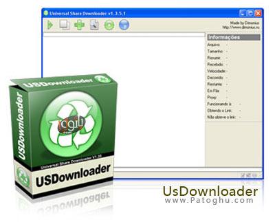 نرم افزار دانلود بدون محدودیت سرعت و زمانی از سایتهای اشتراک فایل معروف جهان - Portable USDownloader Plus 1.3.5.50 ML