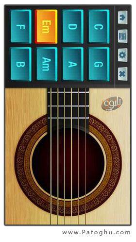 دانلود نرم افزار گیتار صفحه لمسی Touch Guitar برای s60v5