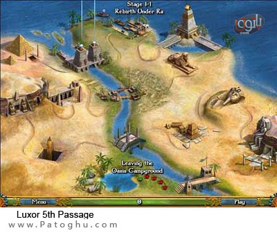 بازی لوکسر ۵ گذرگاه-Luxor 5th Passage 1.0.0.8 Portable PC Game