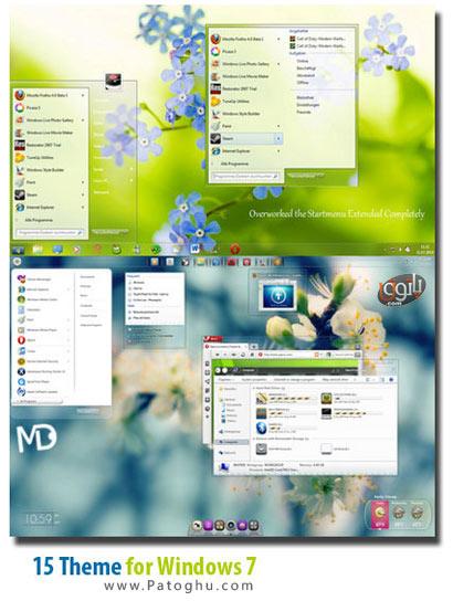 دانلود 15 تم زیبا برای ویندوز سون Themes for Windows 7