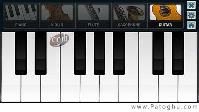دانلود نرم افزار آهنگ سازی برای نوکیا ورژن 5 - Touch Piano 1.1