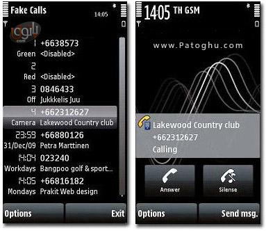 برنامه زنگ خوردن جعلی گوشی در زمان معین با DrJukka's Fake Calls v1.0