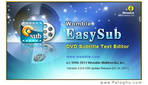 ساخت، ویرایش و چسباندن زیرنویس به فیلم با Womble Easysub 2.0.0.105