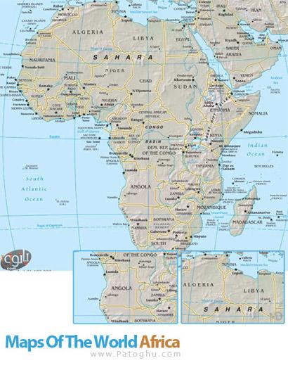 نقشه قاره آفریقا با فرمت PDF