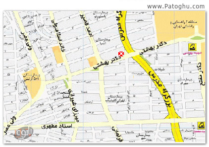 دانلود نقشه تهران جدید سال 89 برای موبایل - Tehran Map 89
