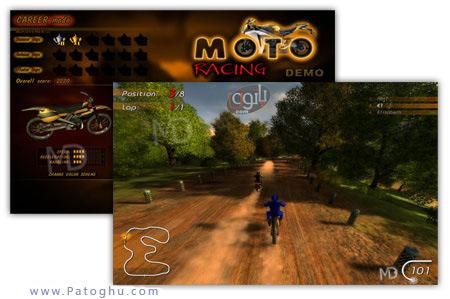 دانلود بازی کامپیوتر کم حجم مسابقه موتور سواری MotoRacing PC Game