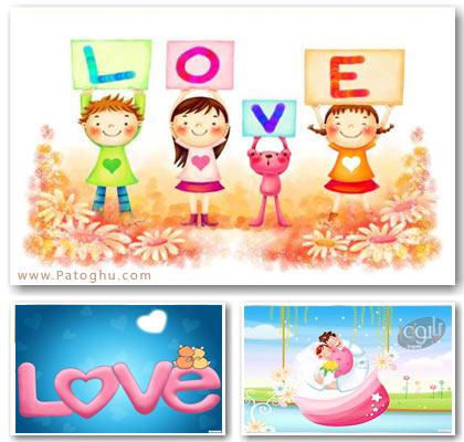 مجموعه پس زمینه عاشقانه برای دسکتاپ شما با کیفیت بالا Lovely Wallpapers