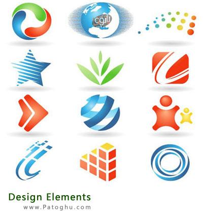 دانلود مجموعه وکتورهاي لوگوي عناصر طراحي Design Elements