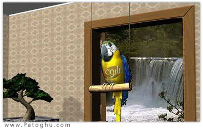 اسکرین سیور زیبا و جذاب Digital Talking Parrot ScreenSaver