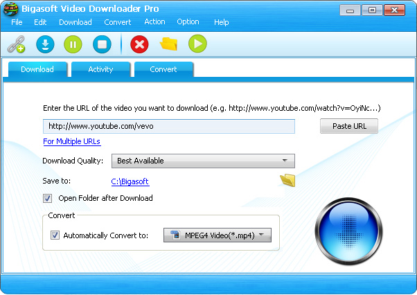 Bigasoft Video Downloader Pro