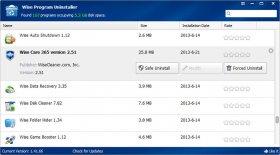 حذف کامل و سریع نرم افزارهای نصب شده Wise Program Uninstaller 2.24.119