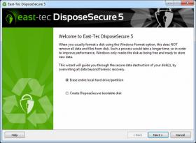 پاکسازی اطلاعات از هارد دیسک بدون امکان بازیابی East-Tec DisposeSecure 5.1.0.100