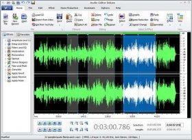 ویرایش و افکت گذاری روی فایل های صوتی Audio Editor Deluxe v10.0.3
