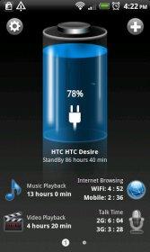 نمایش قدرت و زمان باقی مانده باتری اندروید Battery HD Pro v1.67.03