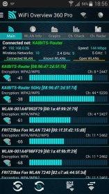 مدیریت و بهینه سازی شبکه های WIFI در اندروید WiFi Overview 360 Pro v3.50.05