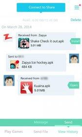 دانلود زاپیا جهت ارسال سریع اطلاعات از طریق wifi برای ویندوز و اندروید Zapya v5.3