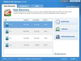نرم افزار قدرتمند بازيابي اطلاعات پاک شده WinMend Data Recovery 1.4.9.0