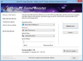 بهینه سازی ویندوز برای اجرای سریع بازی ها Chris-PC Game Booster 3.40