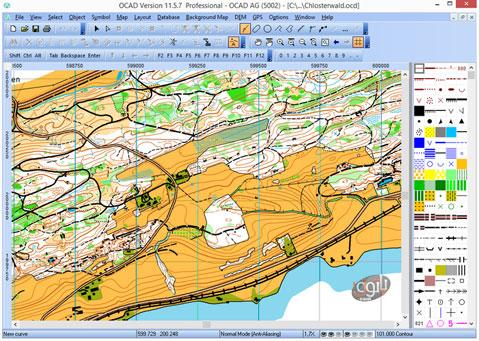 نرم افزار نقشه کشی OCAD 11.5.6.2031