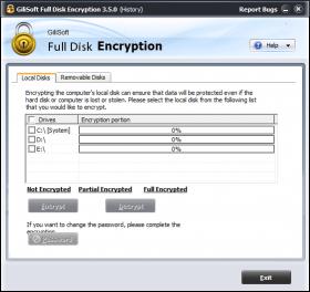 ابزاری قدرتمند برای رمزگذاری روی قسمت های مختلف هارد Gilisoft Full Disk Encryption 3.5.0