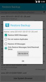 دانلود نرم افزار پشتیبان گیری و بازیابی SMS ها برای اندروید SMS Backup & Restore Pro v10.01.154