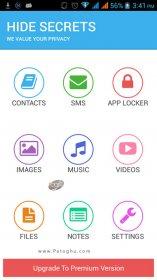 مخفی کردن عکس ، فیلم ، نرم افزارها و SMS ها در اندروید Hide Secrets v3.3