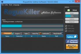 اسکن امنیت پروسه های در احال اجرای ویندوز RogueKiller 10.1.1.0