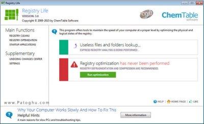 دانلود نرم افزار رفع خطاهای رجیستری و بهینه سازی آن Registry Life 3.43