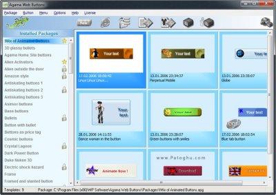 ساخت دکمه و منو حرفه ای برای وب سایت و وبلاگ Agama Web Buttons v3.00.1