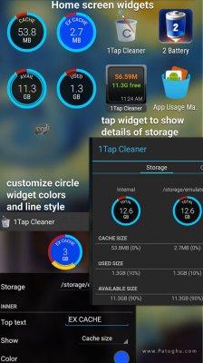 1Tap Cleaner Pro v3.21 دانلود نرم افزار پاک کردن کش و ردپا از گوشی آندروید