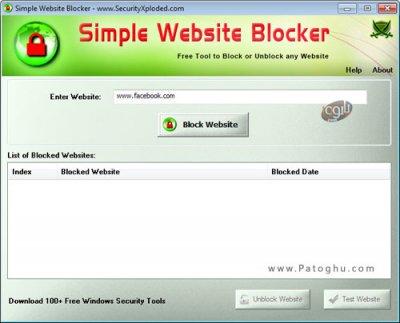 بستن دسترسی به سایت های مختلف Simple Website Blocker 2.0