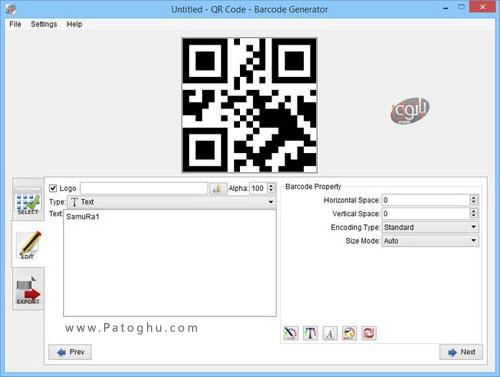 برنامه Aurora 3D Barcode Generator