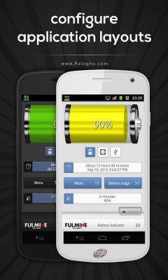 نمایش اطلاعات باتری اندروید به شکلی زیبا Battery Indicator Pro 2.7.2