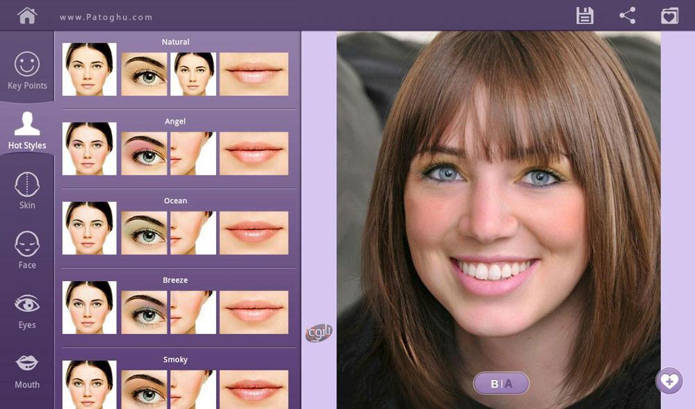 برنامه فتوشاپ تغییر چهره