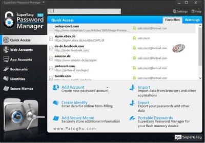 نرم افزار مدیریت رمزهای عبور SuperEasy Password Manager Pro 1.0.0.28