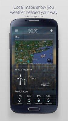 نرم افزار هواشناسی دقیق یاهو برای اندروید Yahoo Weather 1.7.8