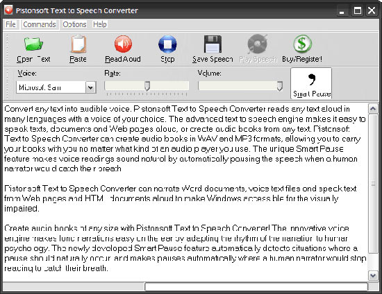 برنامه Text to Speech Converter