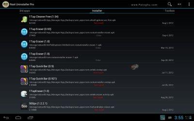 حذف نرم افزار سیستمی در اندروید Root Uninstaller Pro v8.4