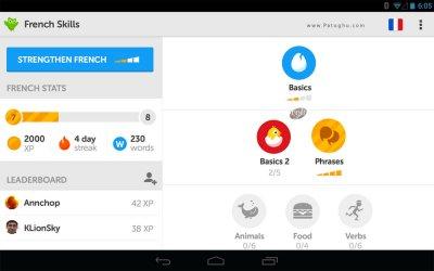 نرم افزار عالی برای یادگیری زبان خارجی در اندروید Duolingo Learn Languages Free 3.54.1